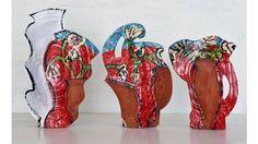 (Betty Woodman: 'Red, White and Blue Vases', 2013. © Betty Woodman. Photograph: Bruno Bruchi )