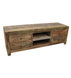 Buy Longish Entertainment Unit by Wood Dekor Online - Modern Book Shelves - Book Shelves - Furniture - Pepperfry Product Media Unit, Tv Unit, Modern Books, Shelf Furniture, Bookshelves, A Table, Drawers, Things To Come, Entertaining