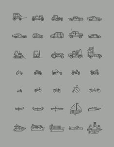 280 Vector Line Icons Pack, transportation, transport, boat, car, motorcycle, truck, tractor, bike, sailboat