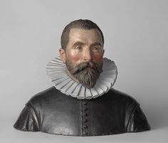 Portrait bust of  Johann Neudörfer the younger, by Jan Gregor van der Schardt, ca. 1570 - ca. 1590