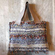 Handwoven Bag by jita...use diff layers of farics and yarns DD