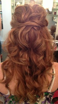 Awesome hair for wedding! Color and style!!
