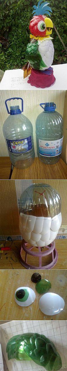 Кеша из пластиковых бутылок. Мастер класс.