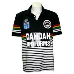 Penrith-Panthers-1991-Retro-Jersey.gif (1024×1024) Cycling Clothing, Cycling Outfit, Penrith Panthers, Vintage Jerseys, Polo Ralph Lauren, Polo Shirt, Meat, Retro, Mens Tops
