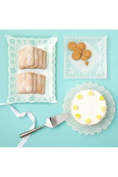 I love, love, love these glass lace doily serving dishes.  Afternoon tea would be taken up a notch if using these.  unique-vintage.com