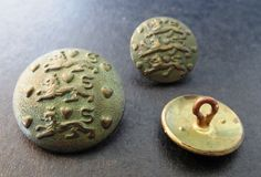Vintage metal buttons from my sewing boxes.