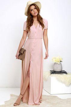Glamorous Vida Bonita Blush Pink Maxi Dress at Lulus.com!