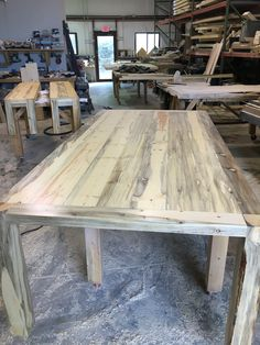 Beetle Kill Pine Dining Table With Matching Benches This Is Our Chatfield Design