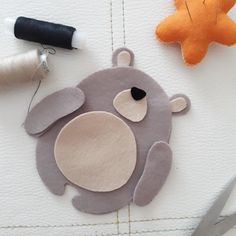 bear toy Bear felt toy Creation time is business day! This toy is made with love and attention to detail using the best quality eco felt. I am happy to customize the background of this to Felt Animal Patterns, Felt Crafts Patterns, Stuffed Animal Patterns, Fabric Crafts, Loom Patterns, Bear Felt, Bear Toy, Newborn Toys, Baby Toys