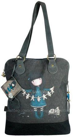 Gorjuss I Found My Family In A Book Bag & Accessory Case Handbag: Amazon.co.uk: Clothing