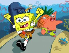 Would like to know how to draw Spongebob square pants? Drawing any animation characters is a perfect lesson and spongebob is simply among such instances. Spongebob Squarepants Tv Show, Spongebob Cartoon, Spongebob Drawings, Easy Cartoon Drawings, Spongebob Patrick, Funny Sketches, Squidward Tentacles, Cartoon Movies, Animation