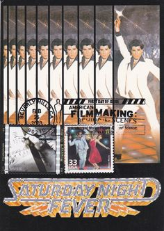 Saturday Night Fever (1977) — 2003 U.S. Postage Stamp / American Filmmaking Series