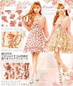 dreamv | Rakuten Global Market: Ribbon bolero &3 kinds of floral patterns one-piece