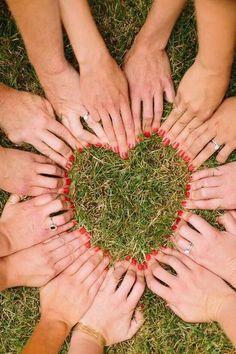 Heart photo idea hen do or wedding
