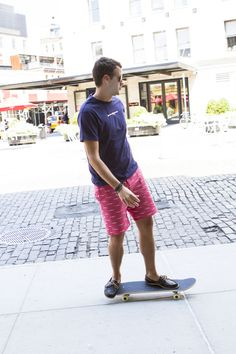 Very cool men's shorts - prints all over - red RPGs - Breese Menswear  http://www.breesestyle.com