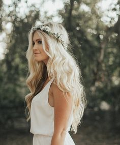 Flower crown sale- Wax/ material and looks super REAL! ❤️ simple elegant pieces with MAJOR WEDDING INSPIRATION for all things bridal: bridesmaids, bride, flower girls, photography and even babies! Even can create your own!