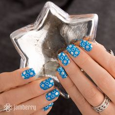 Spin the dreidel in these majestic blue and silver wraps!