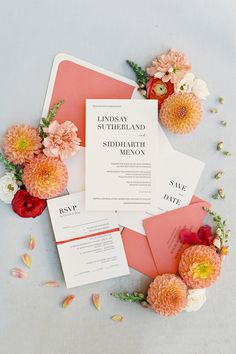 """From the editorial """"How to Honor Multiple Cultural Traditions With Ease on Your Wedding Day."""" This romantic fête was filled with loads of color and joyful touches around every corner and we're sharing allll the details today on SMP! LBB Photography: @spostophoto #weddinginvitations #weddinginvite #weddingstationery #brightinvitations #colorfulinvitations"""