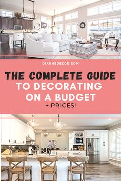 Here's how to design home on a budget. Ideas for decorating your kitchen, bathroom, living room, and bedroom for under $100.    #designhome #homedecorating #roomideas #decoratingideas #roomdesign #decoratingonabudget #homedecoratingguide #decorguide #interiorguide #interiorstyling #homestyling #homedecor Design Your Home, House Design, Diy Room Decor, Bedroom Decor, Rental Home Decor, Informal Dining Rooms, Living Room Decor Inspiration, Decorating On A Budget, Interior Styling