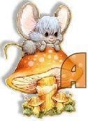 Oh my Alfabetos!: Alfabeto de ratoncitos sobre hongo.