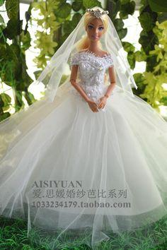 Barbie Wedding Dress.968 Best Barbie Doll Wedding Dresses Images In 2018 Barbie Bride