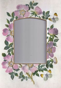 Frame with pink blossoms