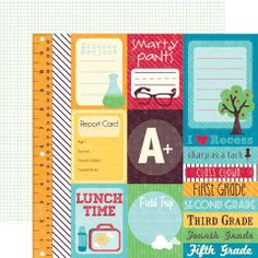 Scrapbooking for Less - Echo Park Cut-Outs - School Days - Journaling
