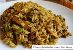 Indonéz currys csirkemell Chicken Recipes, Chicken Meals, Fried Rice, Cravings, Cooking, Ethnic Recipes, Food, Bulgur, Kitchen