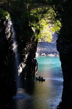 Waterfall Canyon,Takachiho, Japan  photo via remember