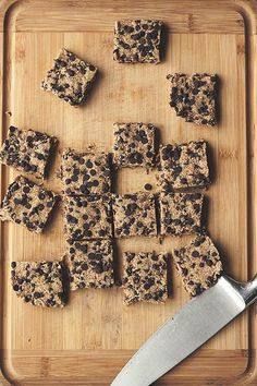 Raw Chocolate Chip Cookie Dough Bars - Made from Almond Milk Pulp by Tasty Yummies, via Flickr