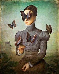 Incredible surreal digital illustrations by artist Christian Schloe. Art And Illustration, Illustrations Posters, Art Amour, Inspiration Art, Canvas Prints, Art Prints, Pop Surrealism, Fine Art, Art Design