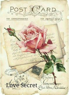 Furniture decals shabby chic french image transfer vintage rose card sign art diy home Craft label script crafts scrapbooking card making - AusDrucken - Papel Vintage, Decoupage Vintage, Vintage Diy, Vintage Ephemera, Vintage Cards, Vintage Paper, Vintage Postcards, Shabby Vintage, Chic Antique