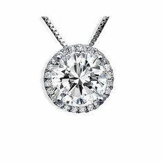 .96ct SI-1 F Round Diamond Solitaire Necklace Pendant