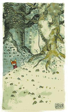 Red fox art by Thierry martin Art And Illustration, Art Fox, Fantastic Mr Fox, Guache, Inspiration Art, Arte Popular, Oeuvre D'art, Fantasy Art, Art Drawings