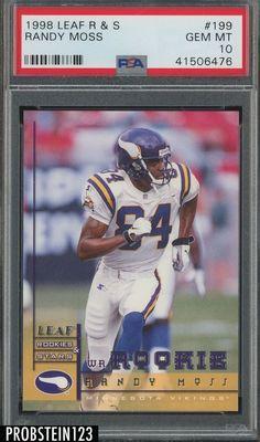 1998 Leaf Rookie   Stars  199 Randy Moss Vikings RC Rookie HOF PSA 10 GEM  MINT 2f7c38e6a