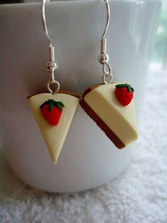 Strawberry Cheesecake Earrings by ArtbyAshLigon on Etsy, $4.99