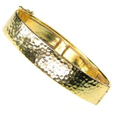 Evangelatos Hammered Flat Bangle Bracelet. Sterling Silver with or without 5 micron Gold Plating. This and more handmade Greek jewelry at Athena's Treasures: www.athenas-treasures.com