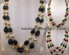 Jewellery Designs: Beads Chains Each String 15gms