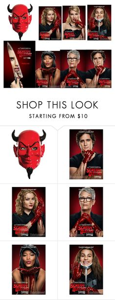 """""""scream queens"""" by xoxo-ily ❤ liked on Polyvore featuring interior, interiors, interior design, home, home decor, interior decorating, Halloween and ScreamQueens"""