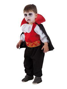 DisfracesMimo, disfraz de dracula bebe varias tallas.Es muy cómodo para vestir a los diminutos de la casa, y que puedan hacer mil travesuras en las fiestas temáticas de las guarderías, en halloween.es ideal para tus fiestas temáticas de disfraces de miedo y vampiros para niños infantiles.