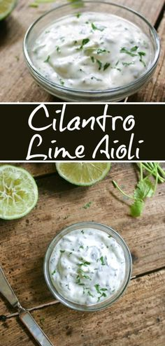 Cilantro Lime Aioli, Great on grilled chicken, fish or spread on sandwiches. Vegetarian Recipes, Cooking Recipes, Healthy Recipes, Microwave Recipes, Healthy Breakfasts, Cilantro Lime Aioli Recipe, Aoili Recipe, Dairy Free Aioli Recipe, Chimichurri