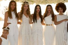 Beyonce's Mom Got Married & It Was Magical #refinery29 http://www.refinery29.com/2015/04/86275/beyonce-tina-knowles-richard-lawson-blue-ivy-wedding-photographs#slide-4 Kelly, Beyonce, Bianca, Tina, and Solange look stunning, but little Blue takes the cake (as usual).