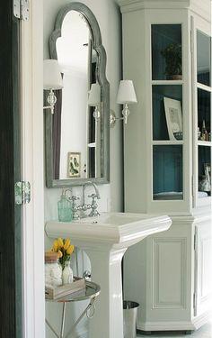 Queen Anne Mirror for bathroom