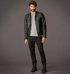 Belstaff - STANNARD JACKE Aus handpoliertem Leder - €1.360 (http://airows.com/steal-the-look-david-beckhams-badass-leather-jacket/)