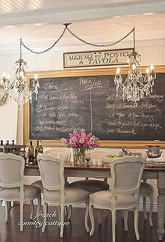 double chandeliers with double the bling and a big chalkboard help create a, chalkboard paint, crafts, electrical, lighting