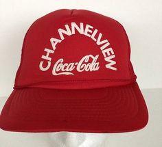 VINTAGE Channelview COCA-COLA Cap MESH TRUCKER HAT ADVERTISING  | eBay