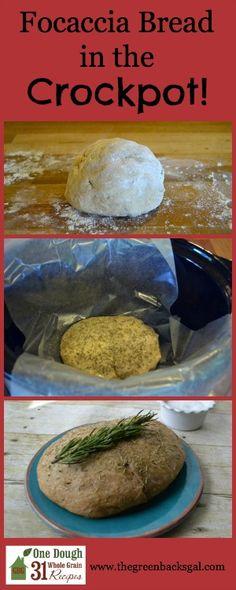 Foccacia Bread in the Crockpot