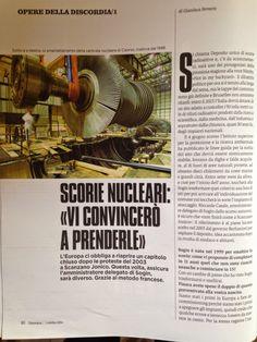 """QUI - SALUGGIA: SCORIE NUCLEARI: """"VI CONVINCERO' A PRENDERLE"""""""