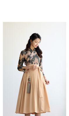 Korean Traditional Dress, Traditional Fashion, Traditional Dresses, Ulzzang Fashion, Asian Fashion, Couture Dresses, Women's Fashion Dresses, Korea Dress, Modern Hanbok
