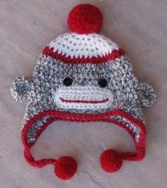 This is a picture of a colorful sock monkey